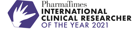 PharmaTimes International Clinical Researcher of the Year logo